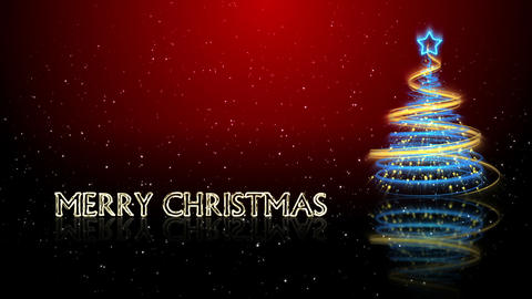 Christmas Tree Background - Merry Christmas 65 (HD) Stock Video Footage