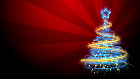Christmas Tree Background - Merry Christmas 67 (HD) Stock Video Footage