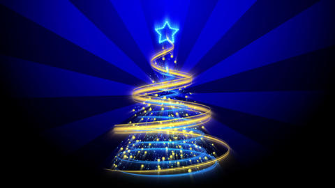 Christmas Tree Background - Merry Christmas 69 (HD) Stock Video Footage