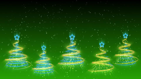 Christmas Trees Background - Merry Christmas 37 (HD) Stock Video Footage