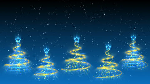 Christmas Trees Background - Merry Christmas 39 (HD) Stock Video Footage