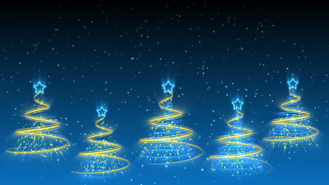 Christmas Trees Background - Merry Christmas 39 (HD) Animation