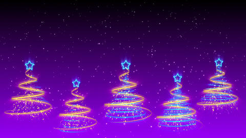 Christmas Trees Background - Merry Christmas 41 (HD) Stock Video Footage