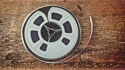 Vintage Audio Reel HD Stock Footage stock footage