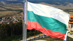 The Fluttered Flags Of Tzari Mali Grad, Bulgaria Footage