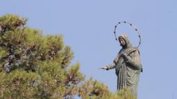 Deir rafat monastery Statue Footage