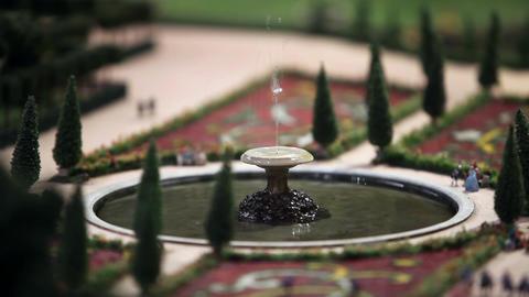 Samson fountain miniature model Footage