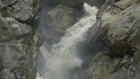 Creek Waterfall Italian Alps Slow Motion Footage