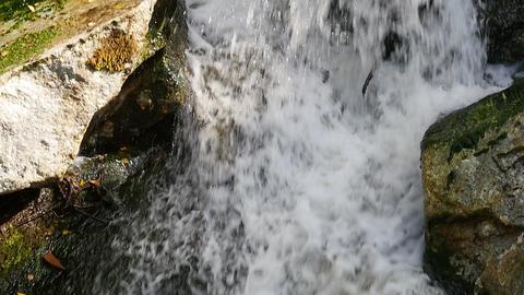 Water flows down stream Footage