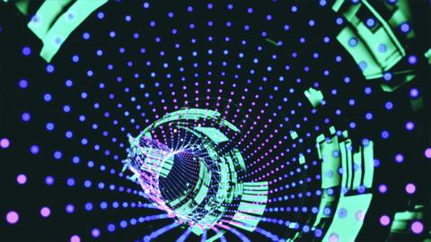 Vj Loop Abstract Tunnel Animation