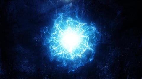 Blue Energy Core Intro Logo Background Motion Backdrop Animation