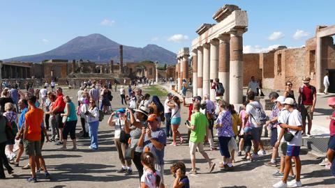 Pompeii ancient ruins Footage