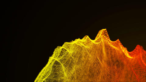 loopable abstract particle background, 3d render with depth of field Footage