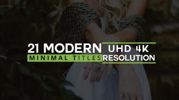 21 Modern Minimal Titles Plantilla de After Effects