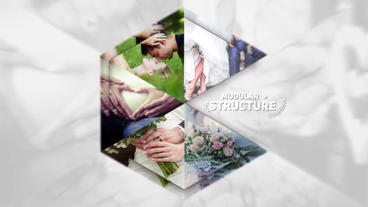 Stylish wedding opener with free background music for personal and commercial After Effects Templates