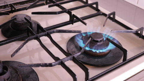Gas kitchen fire Filmmaterial