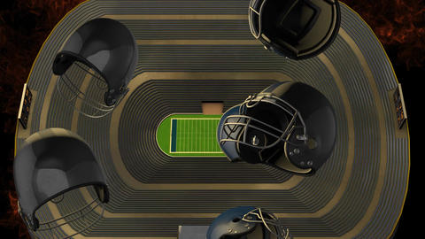 American Football Helmet Animation