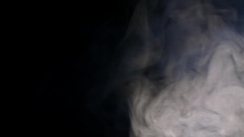 White Water Vapour on a Black Background Image