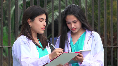 Young Female Doctors Or Nurses Live Action