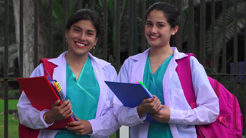 Young Female Nursing Students Footage
