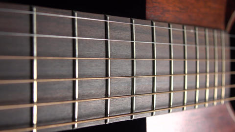 Acoustic guitar parts 4K macro dolly shot Footage