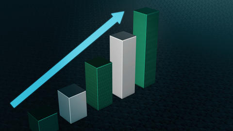 Graph Bar, Infographic diagram, chart. 3D rendered Photo