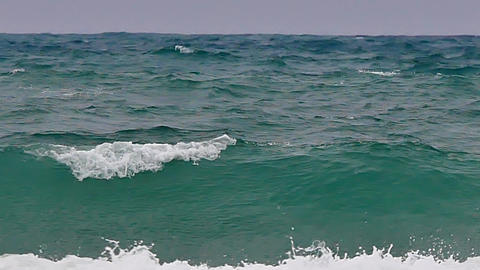 Big waves in the sea in the typhoon season at Andaman Sea or Pacific Ocean in Footage