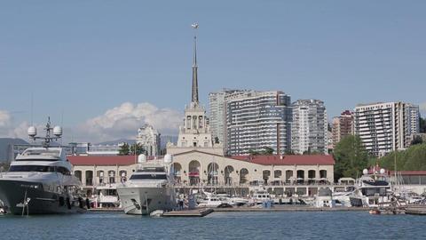 Yachts in Sochi Footage