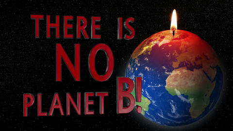 global warming earth candle no planet B 11785 Stock Video Footage