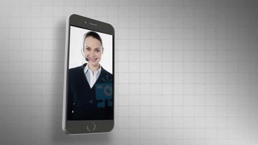 Mobile Phone Templete stock footage