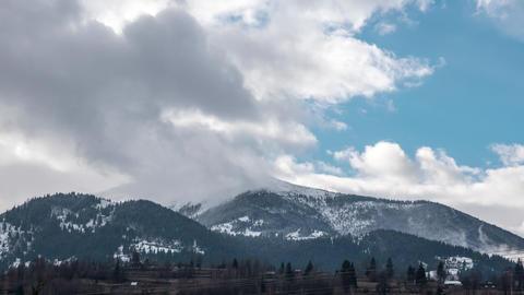 TimeLapse Clouds Rodnei Mountains, Romania stock footage