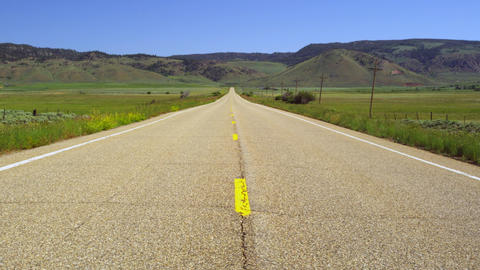 On The Road To Wyoming stock footage