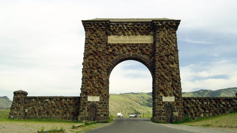 At the Yellowstone National park Footage