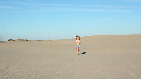 little girl running Footage