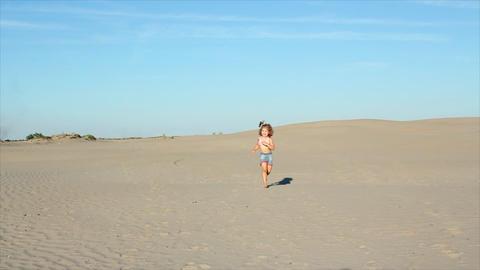 little girl running Footage
