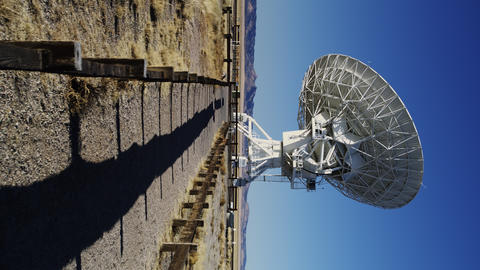 Radio Telescopes searching for Signals from Space Footage