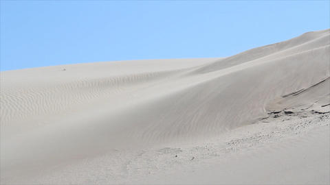 wind blowin over desert Footage