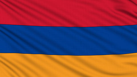 Armenian Flag, with real structure of a fabric Animation