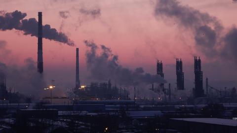 C0180_Oil Refinery Air Polution_timelapse_4K_1 Footage