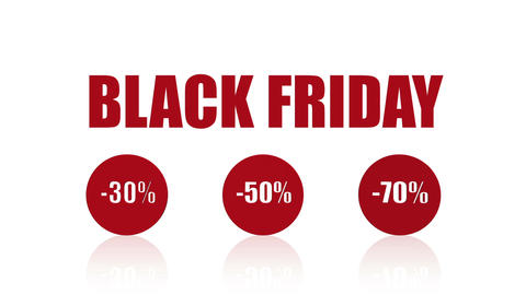 Black Friday Sales Promotion Animation Looping Video (Endless, Seamless, Red, Animation