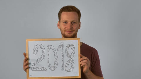 ginger male shows number of new year Archivo