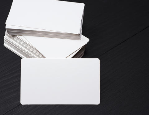 empty rectangular paper business card Foto