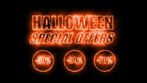 Halloween Special Offers (Sales Promotion Video). Looping (Seamless, Endless) Animation