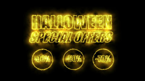 Halloween Special Offers (Sales Promotion Video). Looping (Seamless, Endless). CG動画素材