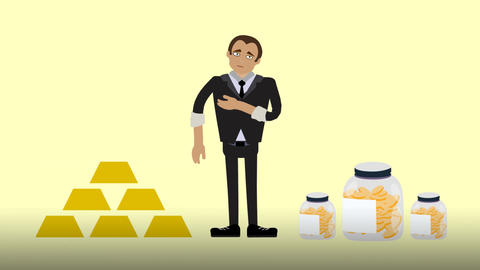 Where to store money? Animation