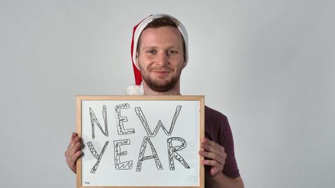 cheerful men santa claus Footage