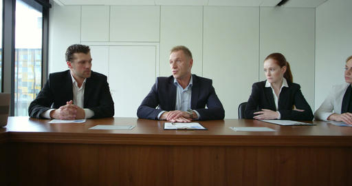 Business People at corporate meeting Stock Video Footage