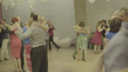 Romance. People dance tango (milonga) Footage