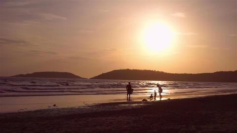 Evening Happy time at Chonburi beach, Thailand Image