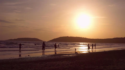 Evening Happy time at beach, Thailand Footage